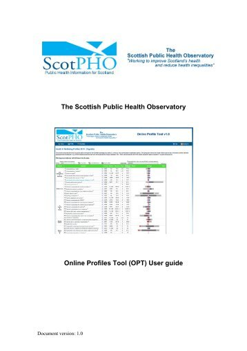 User guide - Scottish Public Health Observatory
