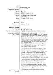 curriculum silvia roma - Provincia di Treviso