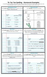 Tic Tac Toe Spelling - Homework Examples