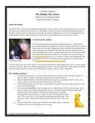 The Buddy Files Teaching Guide - Albert Whitman & Company