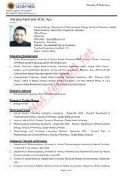 Nanang Fakhrudin Curriculum Vitae - Farmasi Bahan Alam