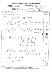 EXAMINATION SOLUTION FORM, Autumn 2008'