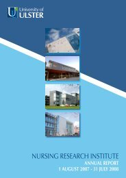 NURSING RESEARCH INSTITUTE - University of Ulster