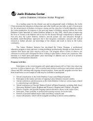 Latino Diabetes Initiative Visitor Program - Joslin Diabetes Center