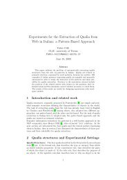a Pattern-Based Approach - clic-cimec