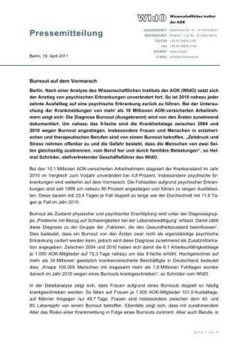 Pressemitteilung - WIdO