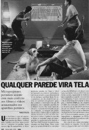 Qualquer parede vira tela Revista Veja 30 Abril 2008 - OPEE