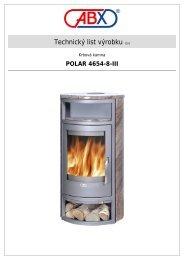 ABX s r.o. | Krbová kamna - Polar 4654-8-III
