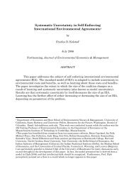 Systematic Uncertainty in Self-Enforcing International Environmental ...