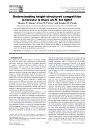 Understanding height-structured competition in forests: is there an R ...