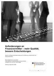 Anforderungen an Finanzvermittler – mehr Qualität ... - Evers und Jung