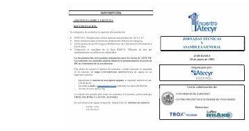 JORNADAS TÉCNICAS Y ASAMBLEA GENERAL - Atecyr
