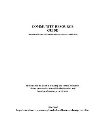 Community Guidebook - Discovery Center