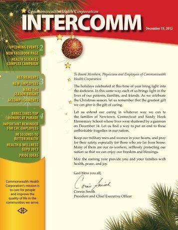 December 19, 2012 CHC Intercomm - The Medical Center