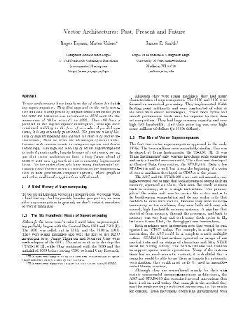 Vector Architectures - University of Wisconsin-Madison