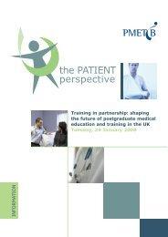 Patient Perspective Background information booklet - General ...