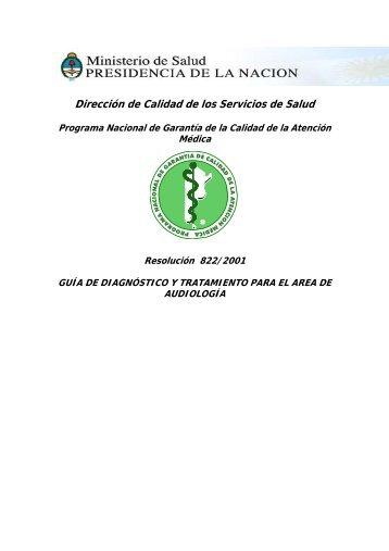 R.M. 822/2001 - Ministerio de Salud