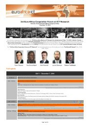 3rd Euro-Africa Cooperation Forum on ICT Research - Umic