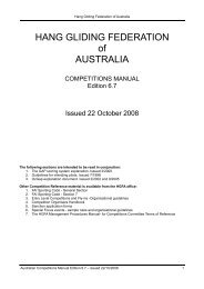 Competitions Manual - Hang Gliding Federation of Australia