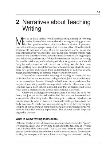 2 Narratives about Teaching Writing - National Council of Teachers ...