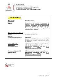 BANDO OSTELLO word.pdf - Comune di Reggio Emilia