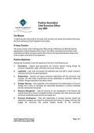 Position Description Chief Executive Officer July 2009 - South ...