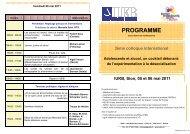 Programme 2011 - Reiso