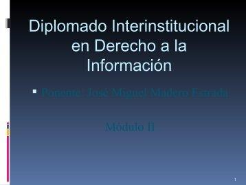 Presentación 1 del Dr. José Miguel Madero Estrada, Presidente ... - Itei