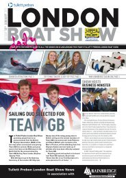 SAILING DUO SELECTED FOR - London Boat Show