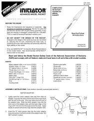 Initiator Instructions - AeroTech