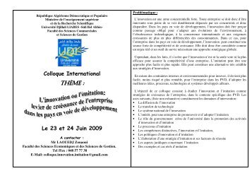 THÈME : - Université de Sidi-Bel-Abbes