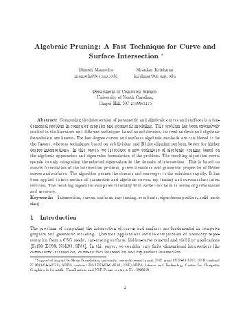 Algebraic Pruning - Department of Computer Science