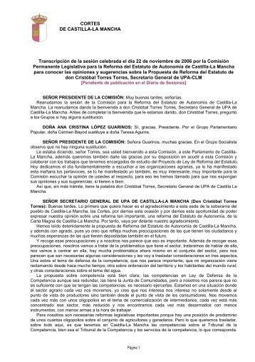 (Comentarios del Presidente de la Comisión - Cortes de Castilla-La ...