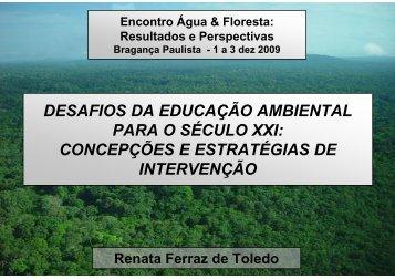 desafios da educação ambiental para o século xxi ... - SIGAM