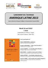 lancement de l'ouvrage amerique latine 2013
