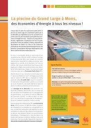La piscine du Grand Large à Mons, - Energie Wallonie