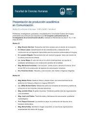 ponencias presentadas - Universidad Católica del Uruguay