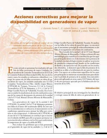 Acciones correctivas para mejorar la disponibilidad en generadores ...