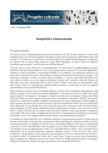 Semplicita e rinnovamento.pdf - Progetto Culturale