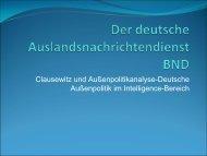 Präsentation - Lehrstuhl für Internationale Politik und Außenpolitik