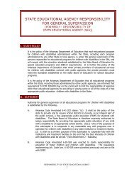 State Educational Agency Responsibility for General Supervision