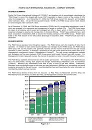 Page 1 of 7 PACIFIC GOLF INTERNATIONAL HOLDINGS KK ... - PGM
