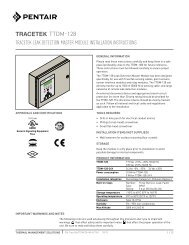 TTDM-128 - Pentair Thermal Management