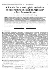 A parallel two-level hybrid method for tridiagonal systems and its ...