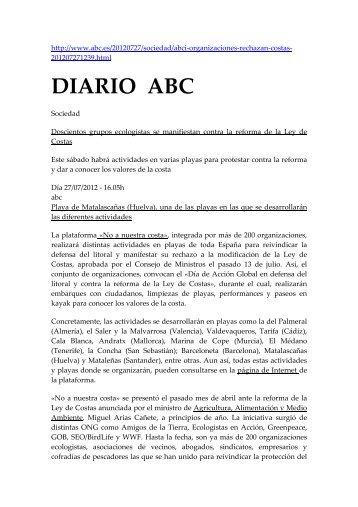 2012 07 30 noticias costas - Plataforma Nacional de Afectados por ...