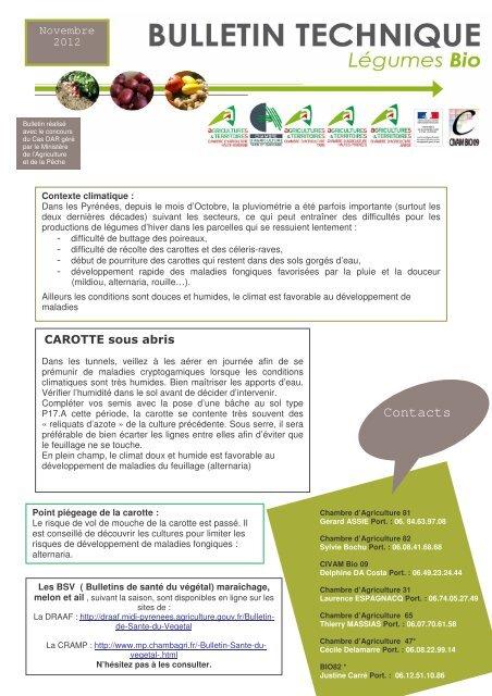 BT novembre 2012 - Chambre régionale d'agriculture Midi-Pyrénées