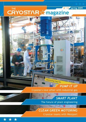 CLEAN GREEN MOTORING SMART PLANT PUMP IT UP - Cryostar