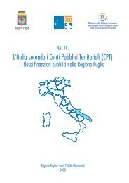 L'Italia secondo i Conti Pubblici Territoriali (CPT) - Dps - MEF