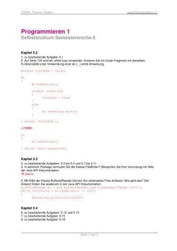 Programmieren 1 - ThomasGalliker.ch