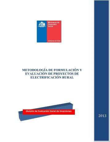 evaluación de proyectos de electrificación rural - Sistema Nacional ...